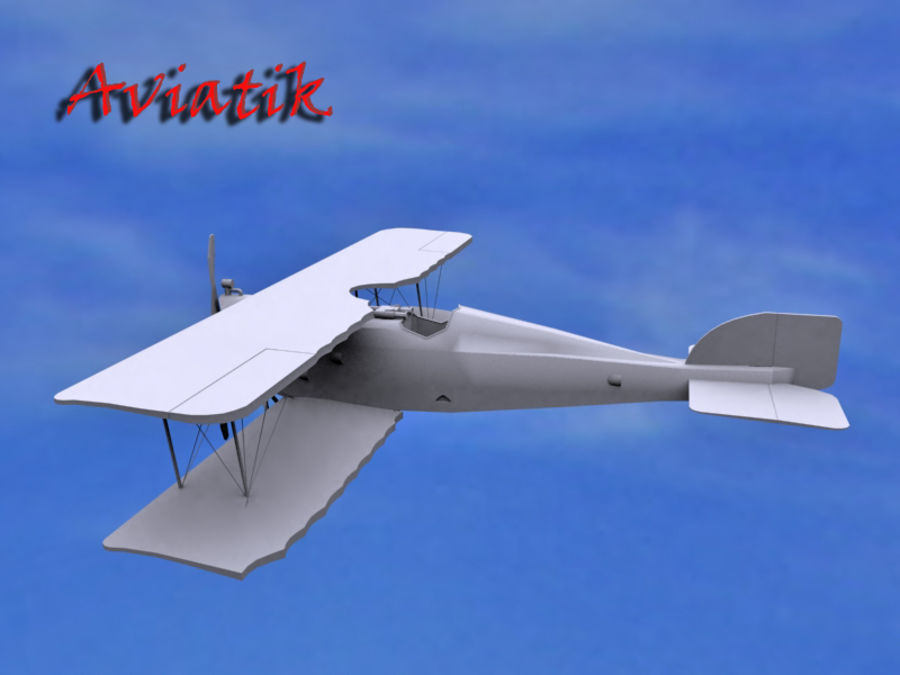 Aviatik royalty-free 3d model - Preview no. 1
