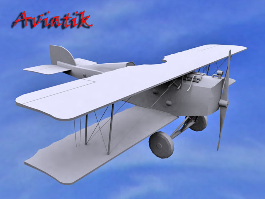 Aviatik royalty-free 3d model - Preview no. 2