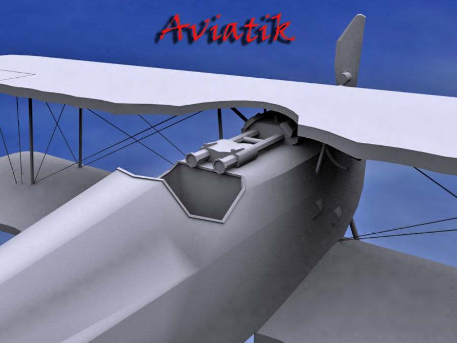 Aviatik royalty-free 3d model - Preview no. 4