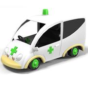 ambulance car vehicle toy kid children game play 3d model