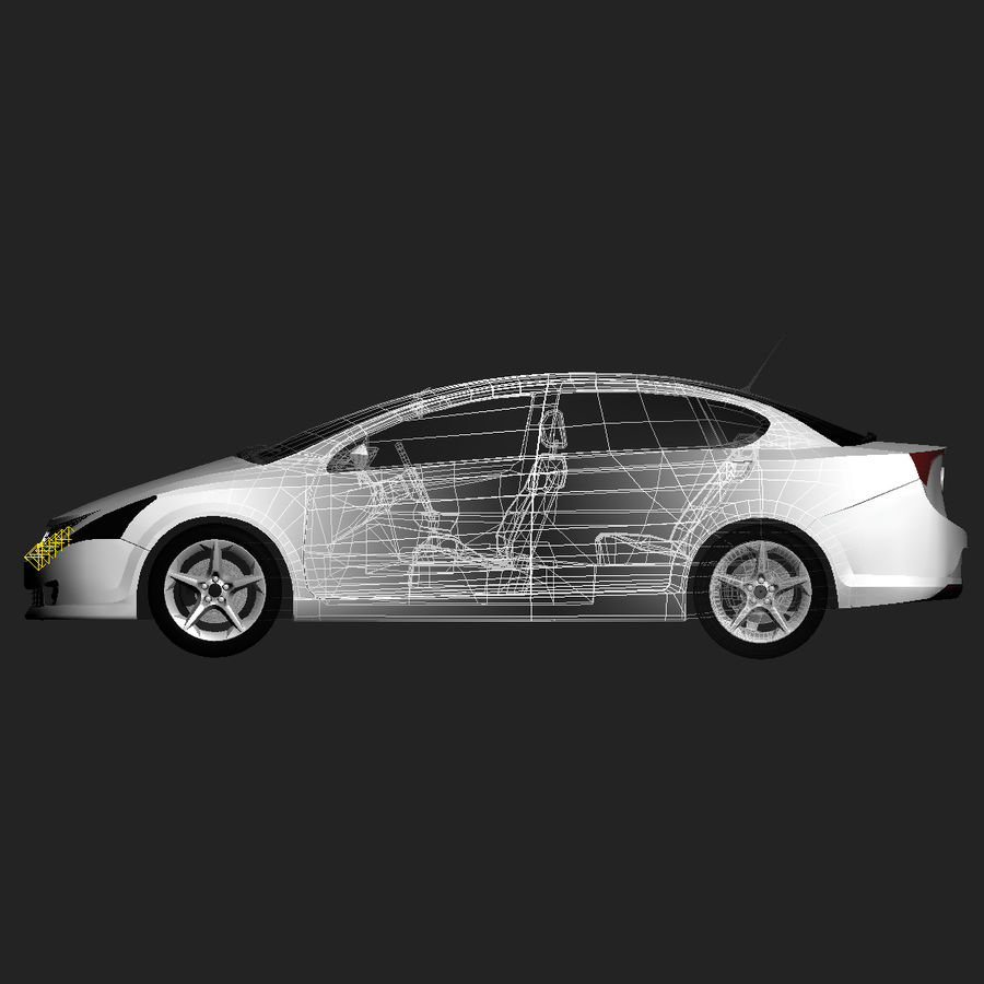 Concept Car - Sedan royalty-free modelo 3d - Preview no. 2