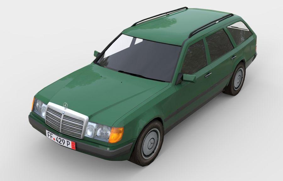 Mercedes W124 300D Универсал 3D Модель $39 -  unknown  max  obj  3ds