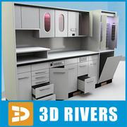 3DRiversが設定した歯科用キャビネット 3d model