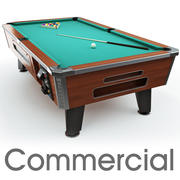 Pool table 8ft Commercial 3d model