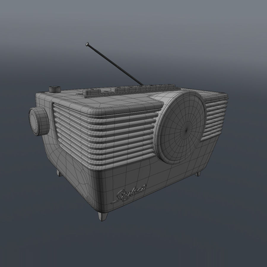 Vintage Radio royalty-free 3d model - Preview no. 3