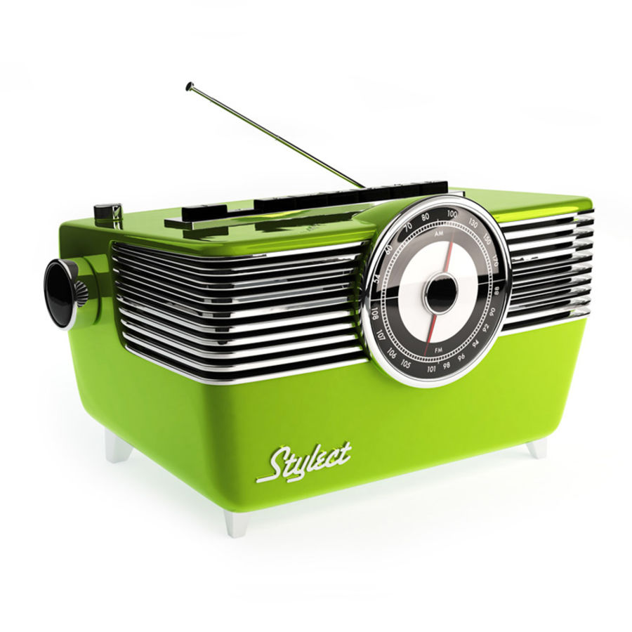 Vintage Radio royalty-free 3d model - Preview no. 1