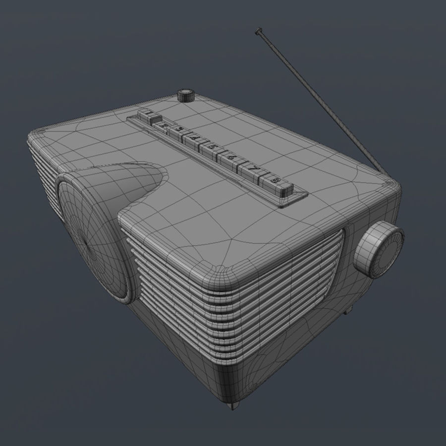 Vintage Radio royalty-free 3d model - Preview no. 4