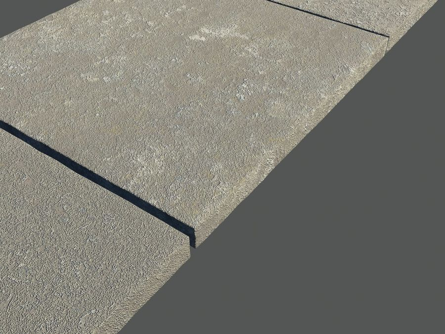 Six paving Slabs royalty-free 3d model - Preview no. 2