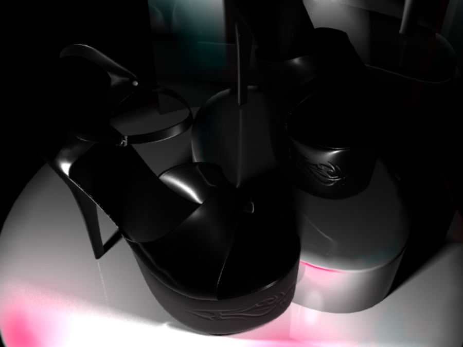 Tacones altos royalty-free modelo 3d - Preview no. 9