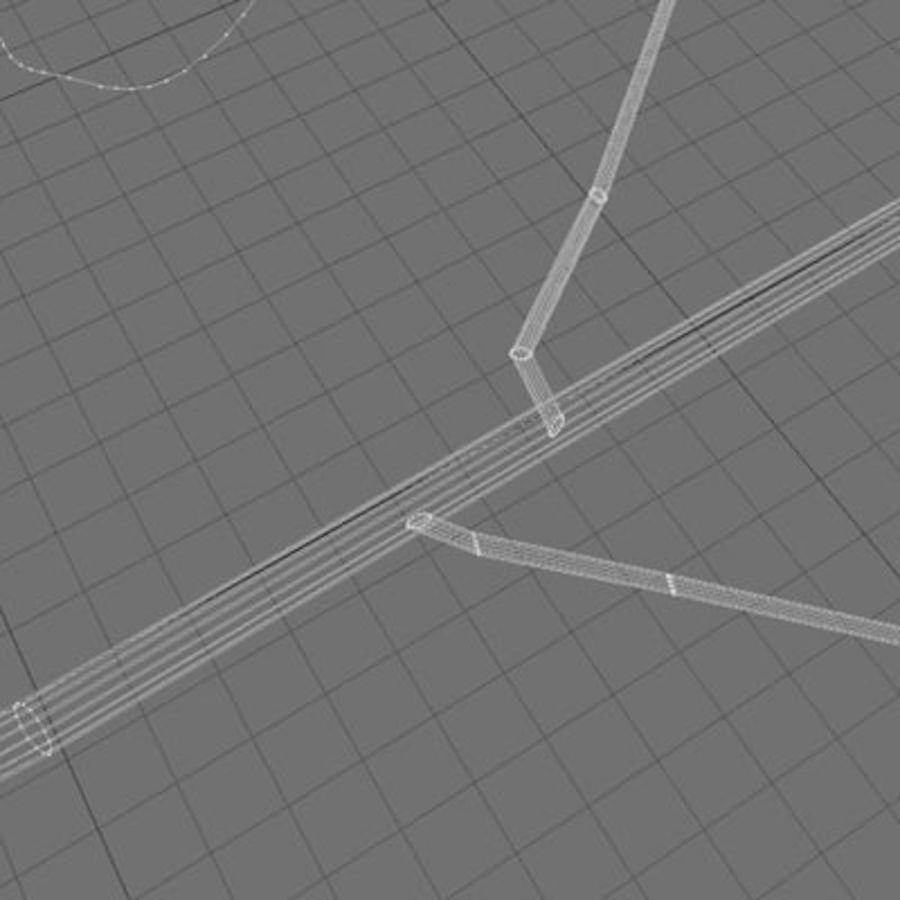 참나무 잎 royalty-free 3d model - Preview no. 6