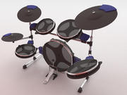 Electric Drum Set 3d model