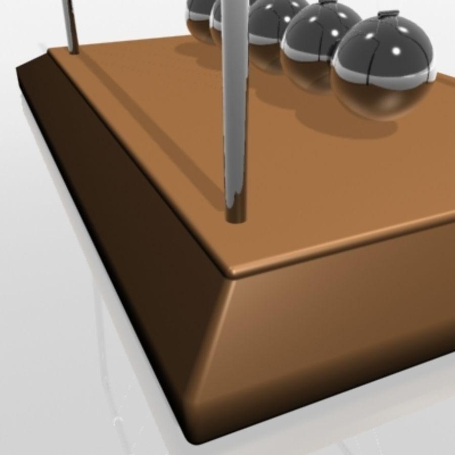 牛顿摇篮 royalty-free 3d model - Preview no. 7