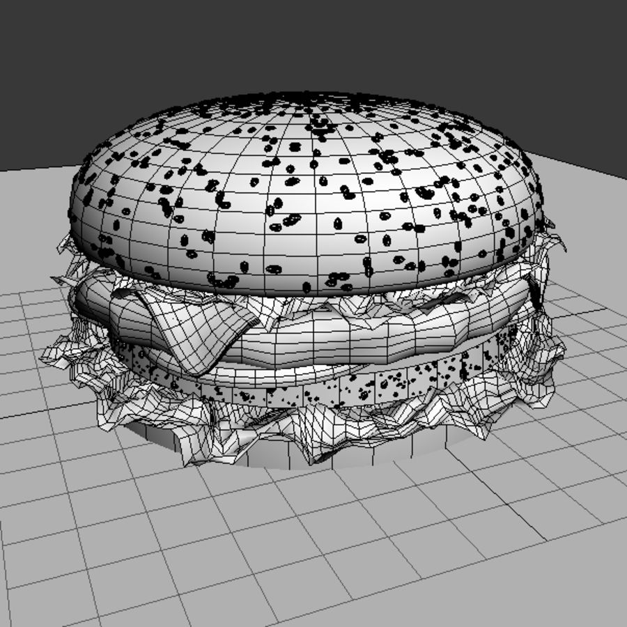 hamburger_3dsmax_scene royalty-free 3d model - Preview no. 6