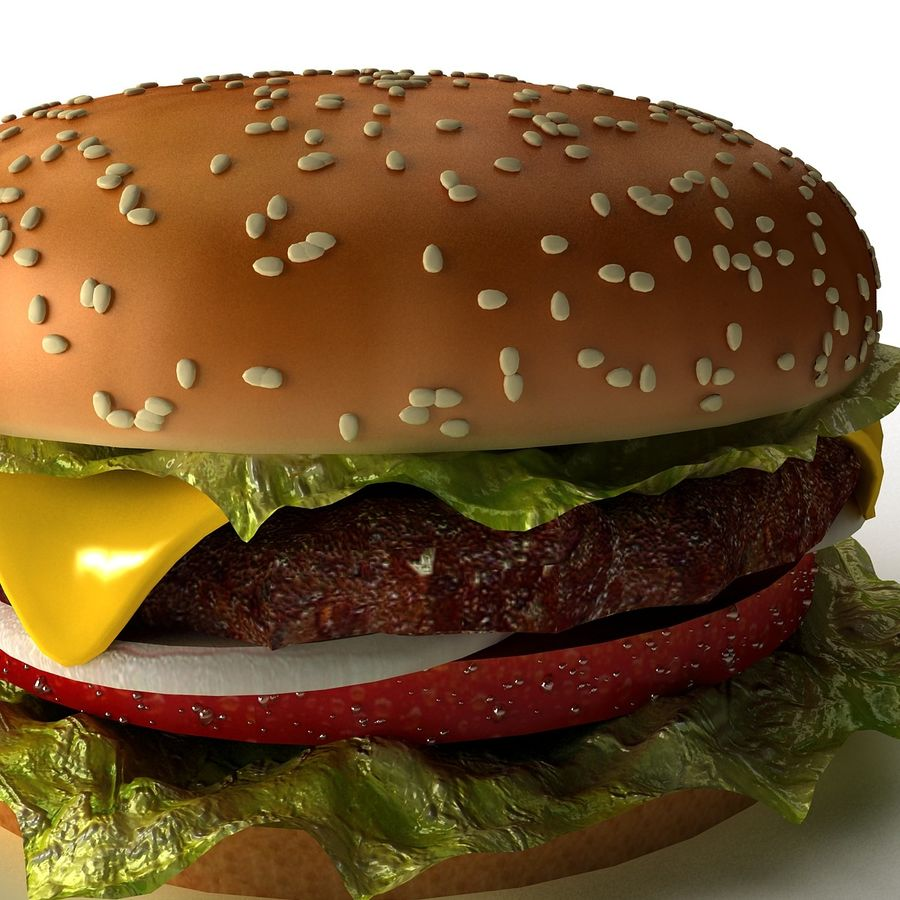 hamburger_3dsmax_scene royalty-free 3d model - Preview no. 4