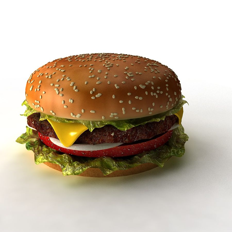 hamburger_3dsmax_scene royalty-free 3d model - Preview no. 1