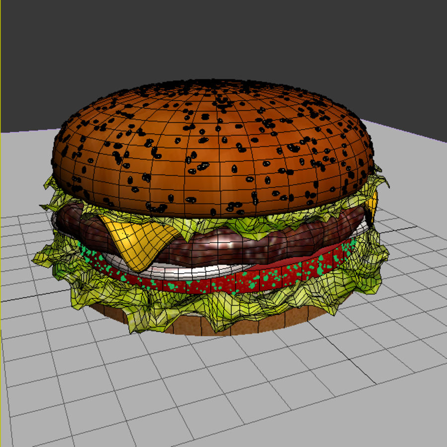 hamburger_3dsmax_scene royalty-free 3d model - Preview no. 5