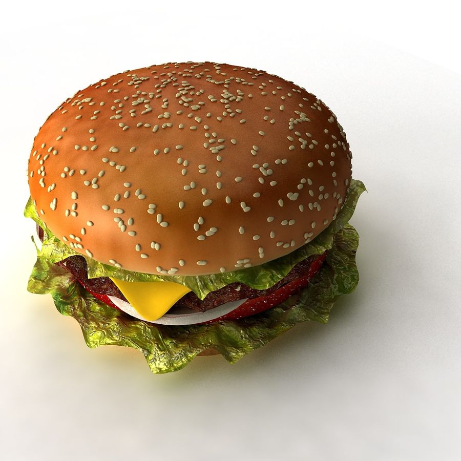 hamburger_3dsmax_scene royalty-free 3d model - Preview no. 2