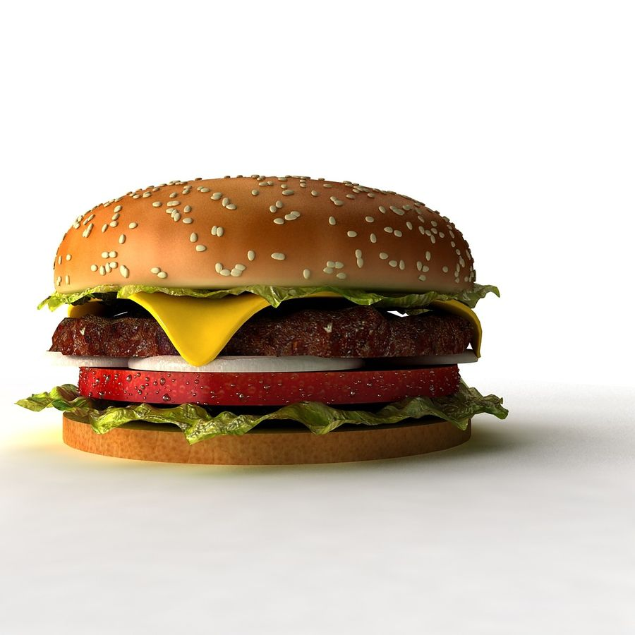 hamburger_3dsmax_scene royalty-free 3d model - Preview no. 3