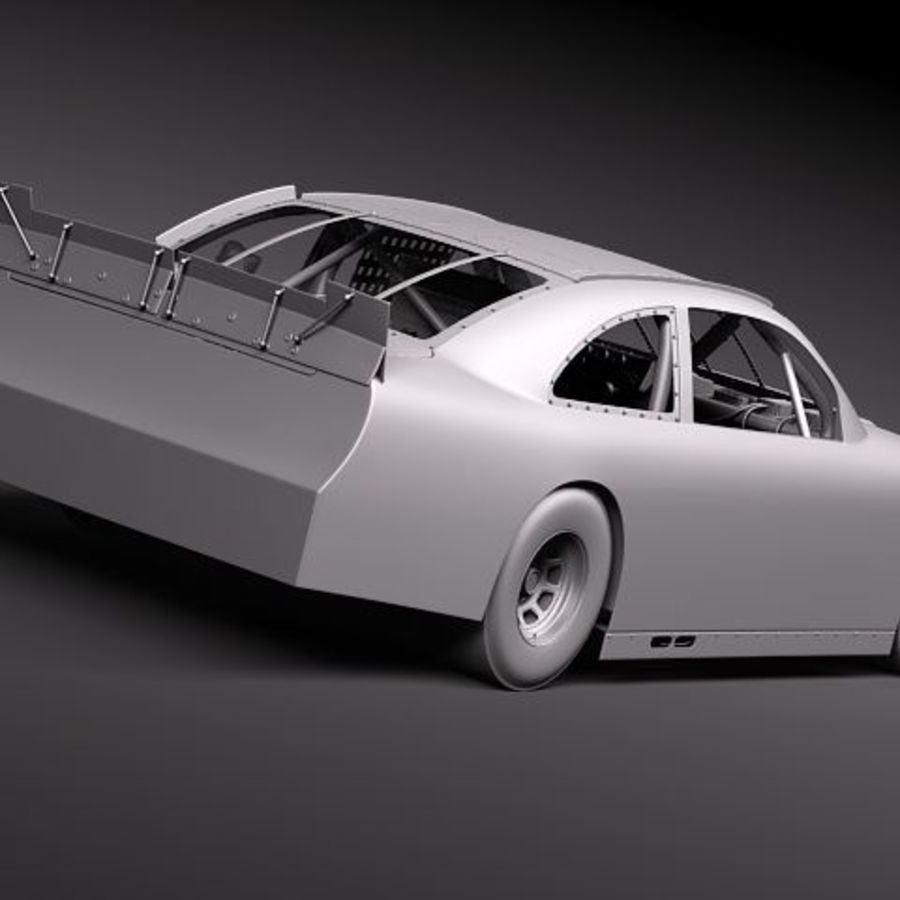 NASCAR 2010 Dodge Challenger royalty-free 3d model - Preview no. 17