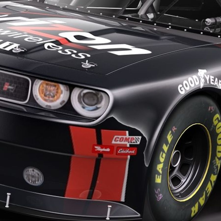 NASCAR 2010 Dodge Challenger royalty-free 3d model - Preview no. 11