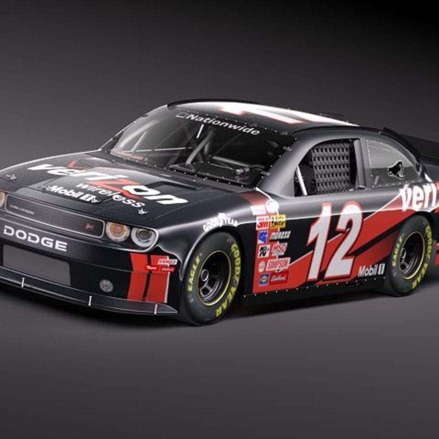 NASCAR 2010 Dodge Challenger royalty-free 3d model - Preview no. 1