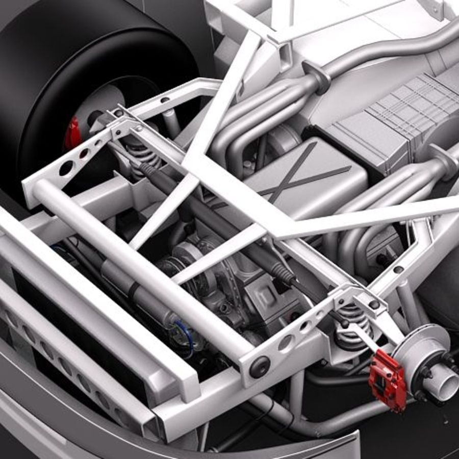 NASCAR 2010 Dodge Challenger royalty-free 3d model - Preview no. 5