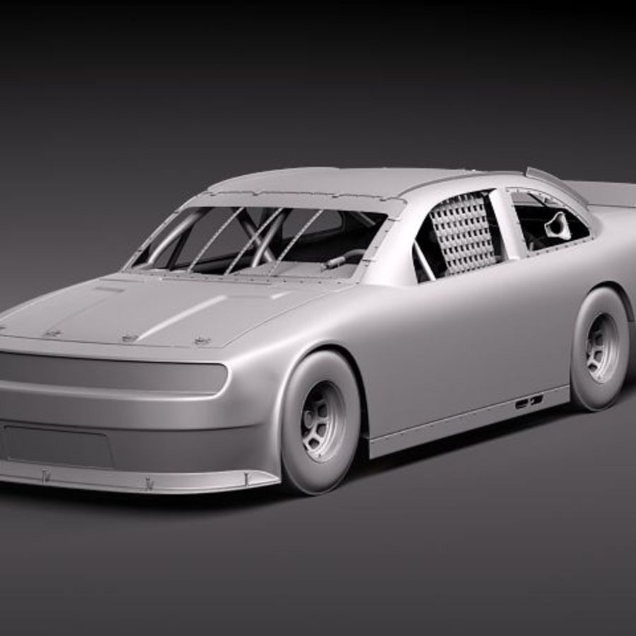 NASCAR 2010 Dodge Challenger royalty-free 3d model - Preview no. 16