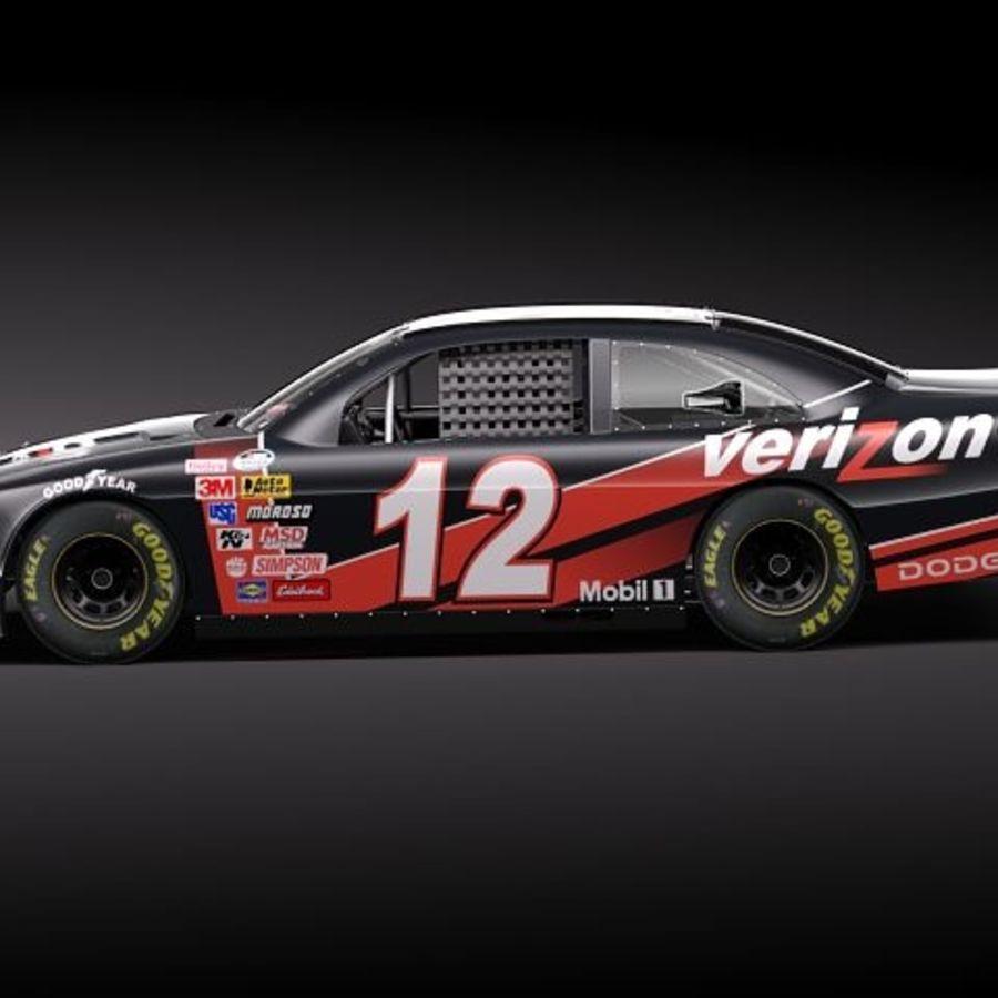 NASCAR 2010 Dodge Challenger royalty-free 3d model - Preview no. 14