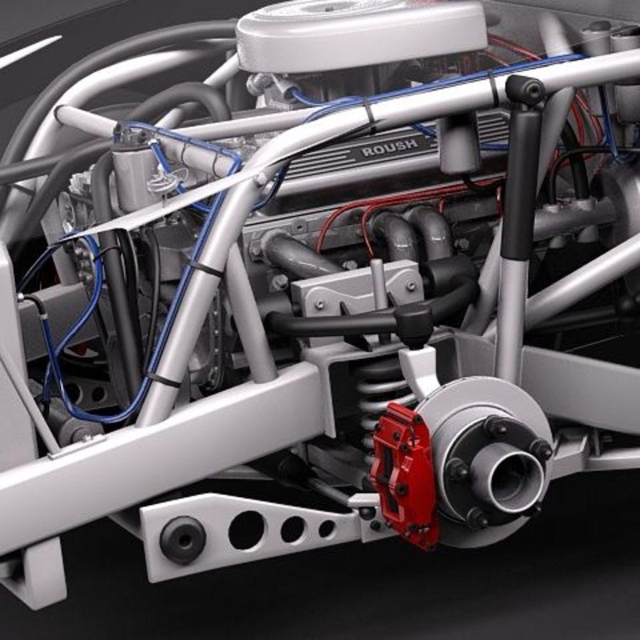 NASCAR 2010 Dodge Challenger royalty-free 3d model - Preview no. 4