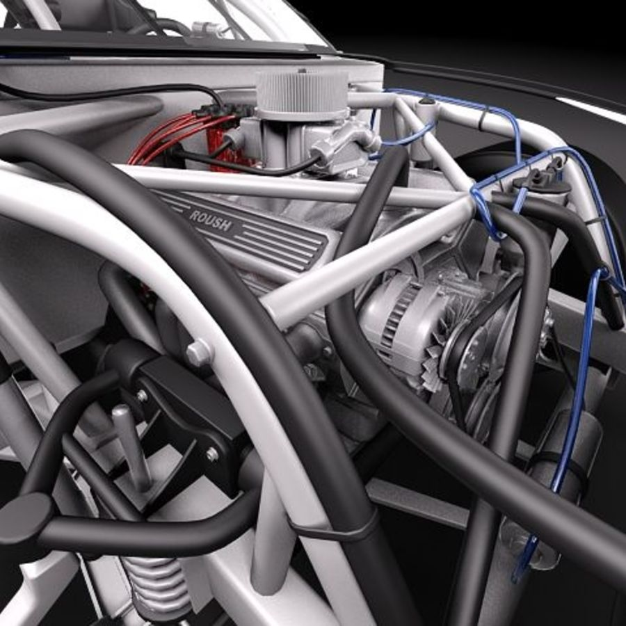 NASCAR 2010 Dodge Challenger royalty-free 3d model - Preview no. 10