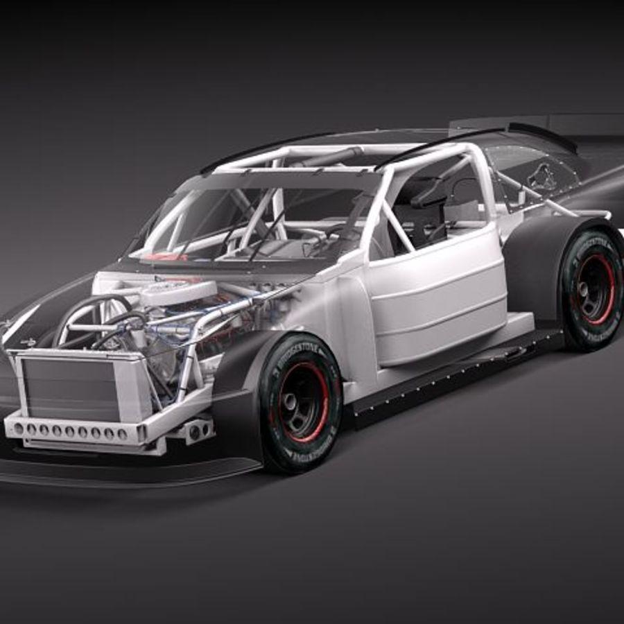 NASCAR 2010 Dodge Challenger royalty-free 3d model - Preview no. 2
