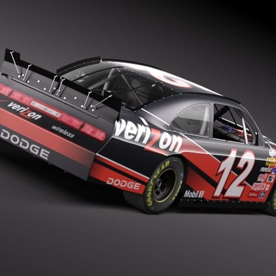 NASCAR 2010 Dodge Challenger royalty-free 3d model - Preview no. 13