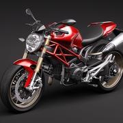 Ducati Monster 1100s 2009 3d model
