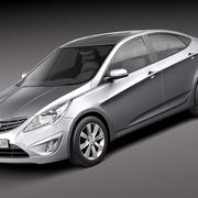 Hyundai Verna 2011 3d model