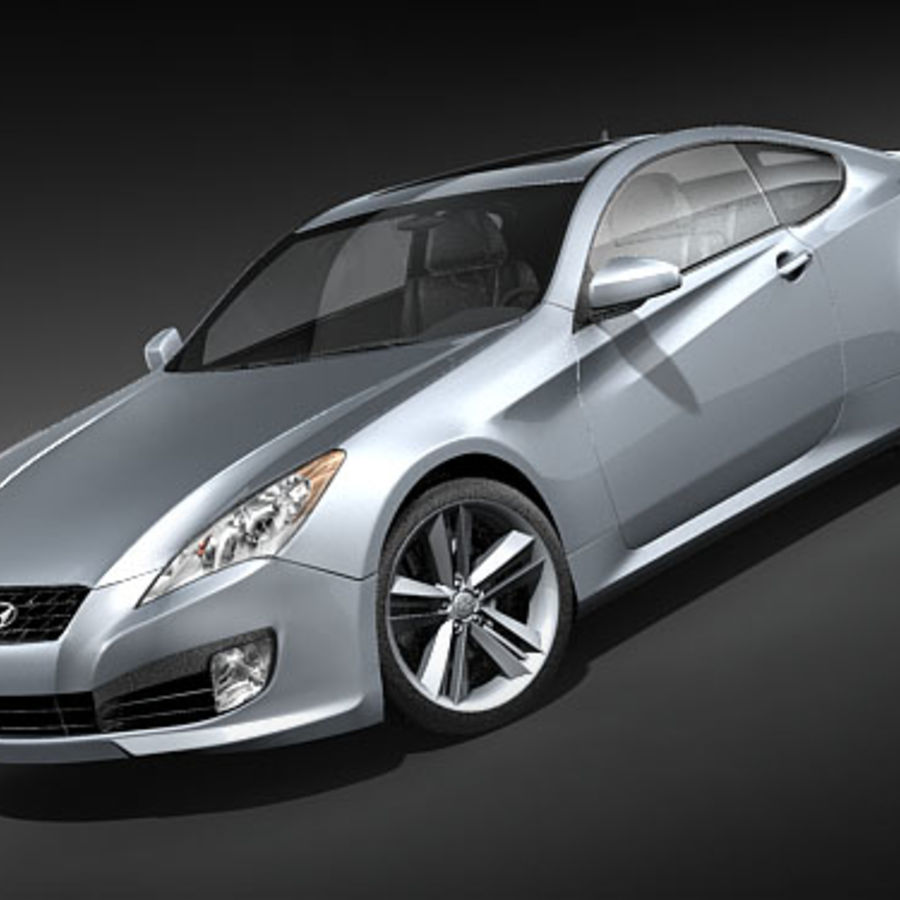 Hyundai Genesis Coupe 2009 Royalty Free 3d Model   Preview No. 1
