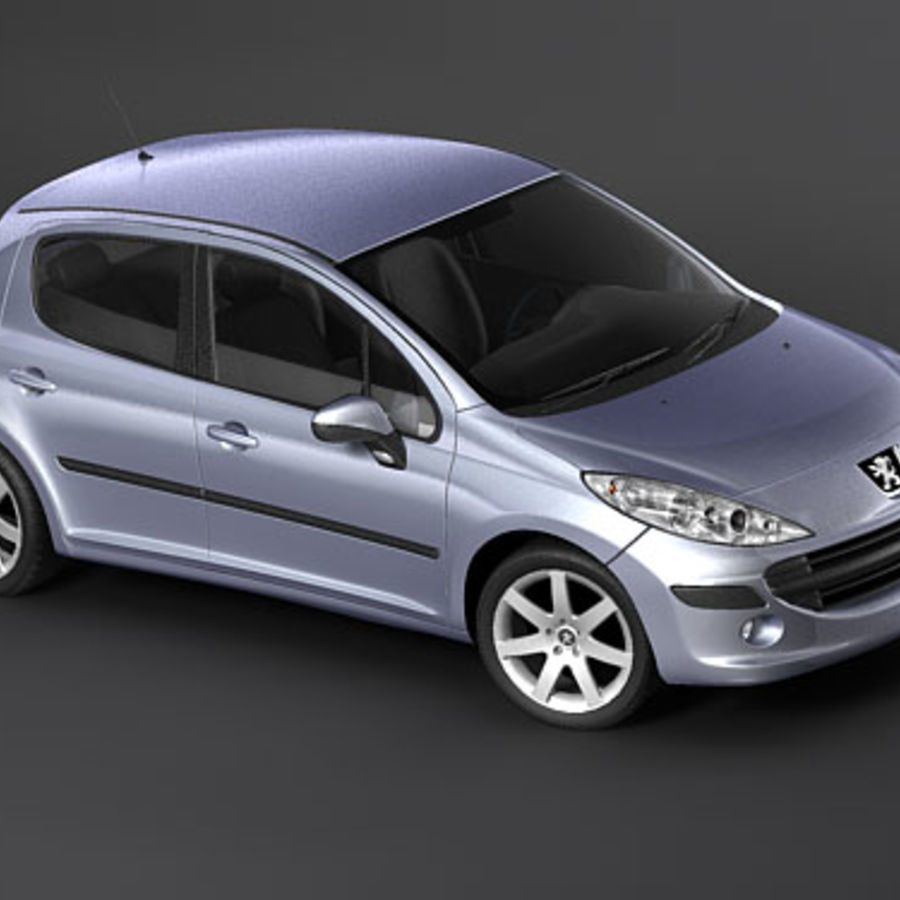 Peugeot 207 5door royalty-free 3d model - Preview no. 4