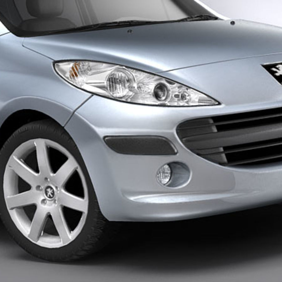 Peugeot 207 5door royalty-free 3d model - Preview no. 3