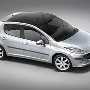 Peugeot 207 5door 3d model
