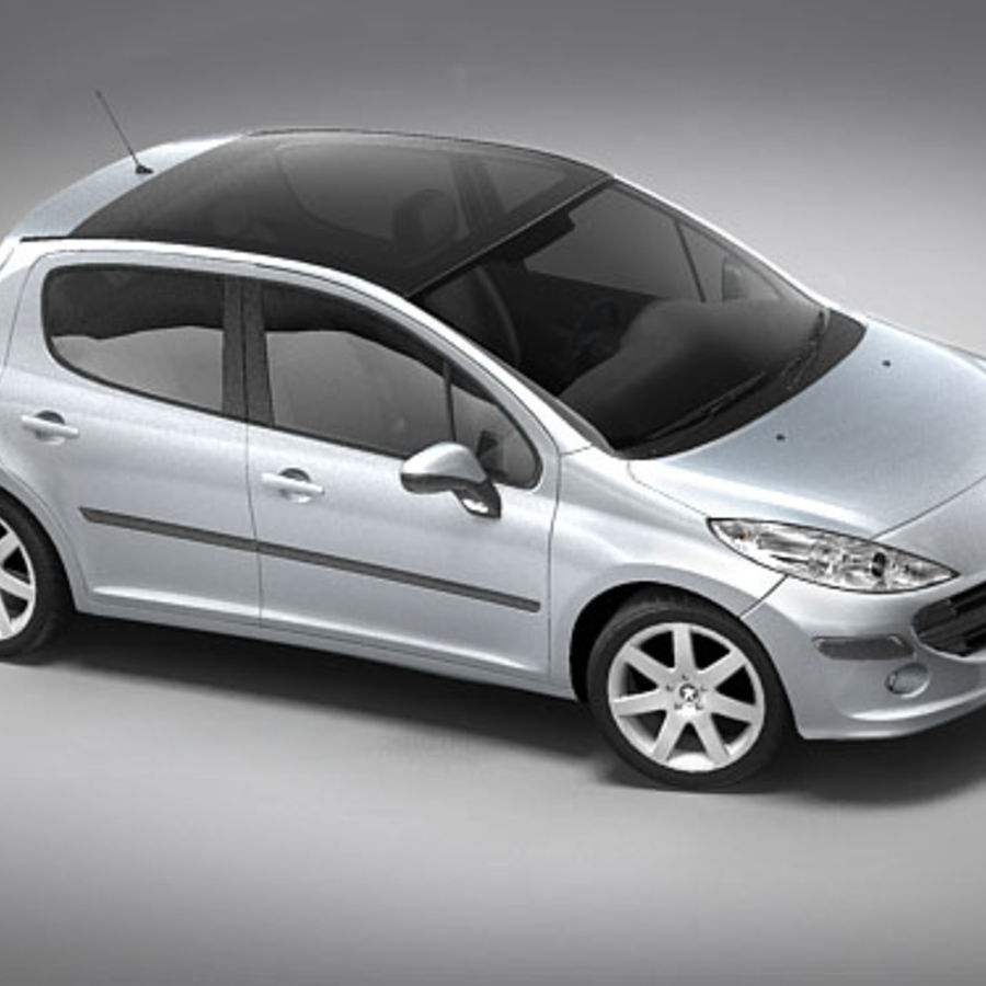 Peugeot 207 5door royalty-free 3d model - Preview no. 1