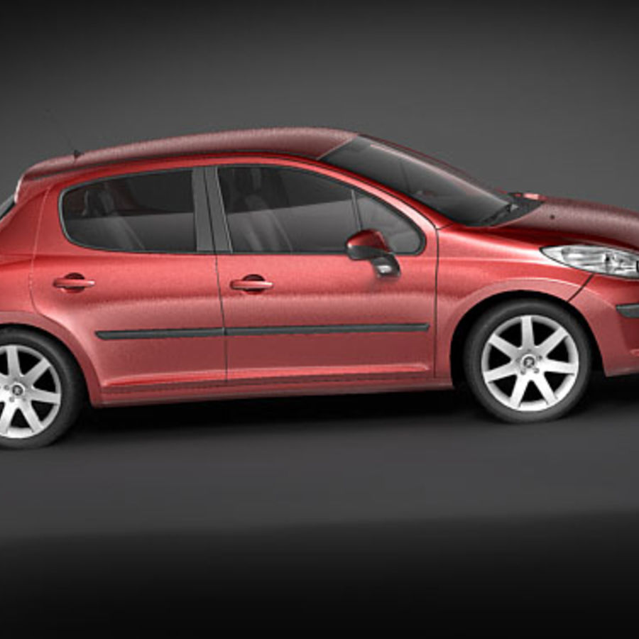 Peugeot 207 5door royalty-free 3d model - Preview no. 2