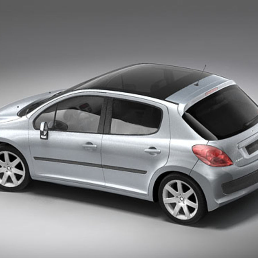 Peugeot 207 5door royalty-free 3d model - Preview no. 6