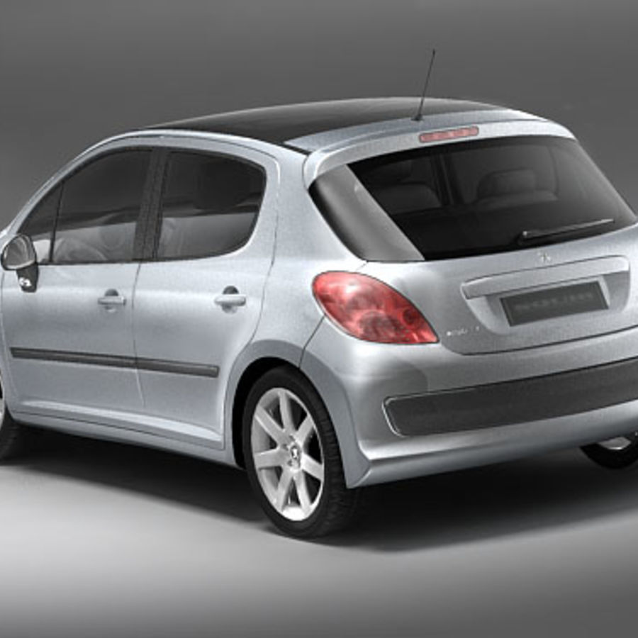 Peugeot 207 5door royalty-free 3d model - Preview no. 5