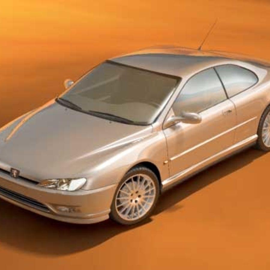 Пежо 406 купе royalty-free 3d model - Preview no. 2