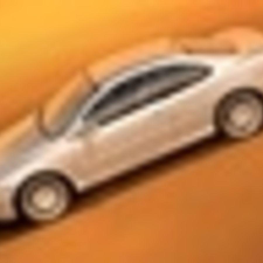 Пежо 406 купе royalty-free 3d model - Preview no. 5