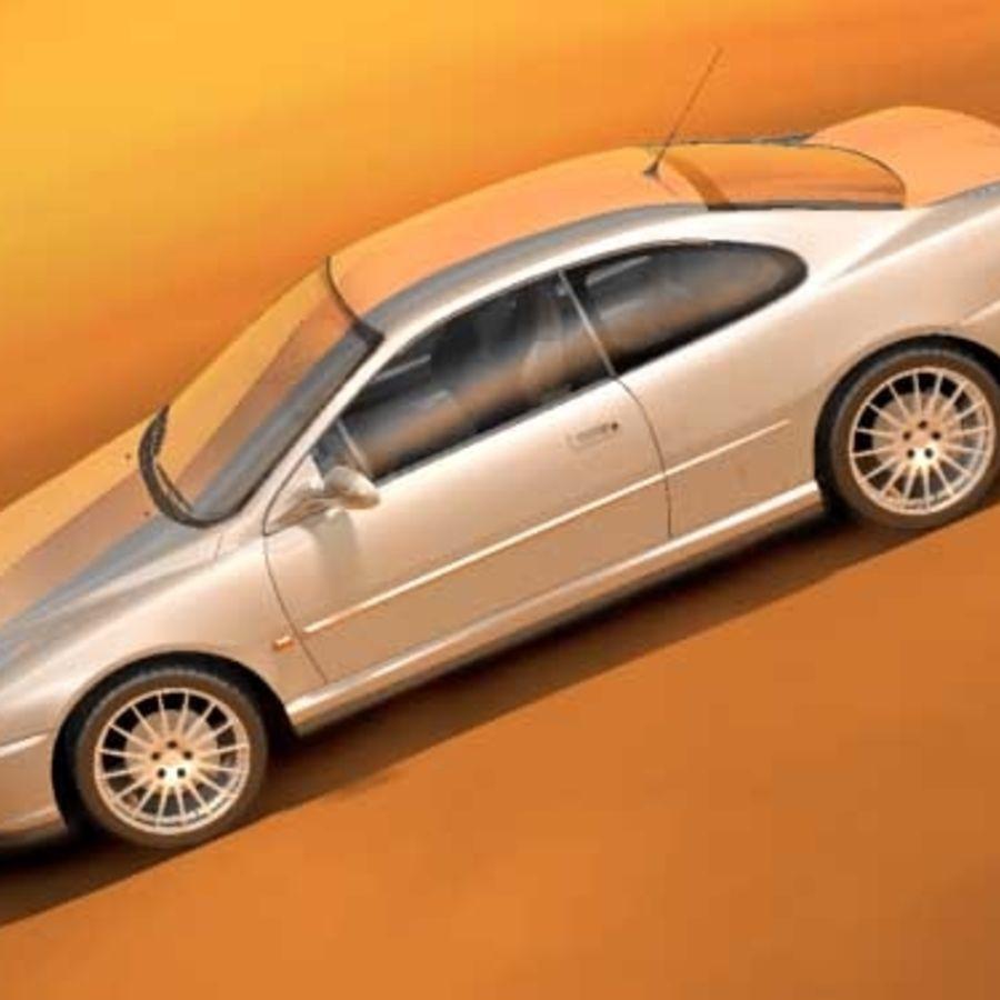 Пежо 406 купе royalty-free 3d model - Preview no. 1