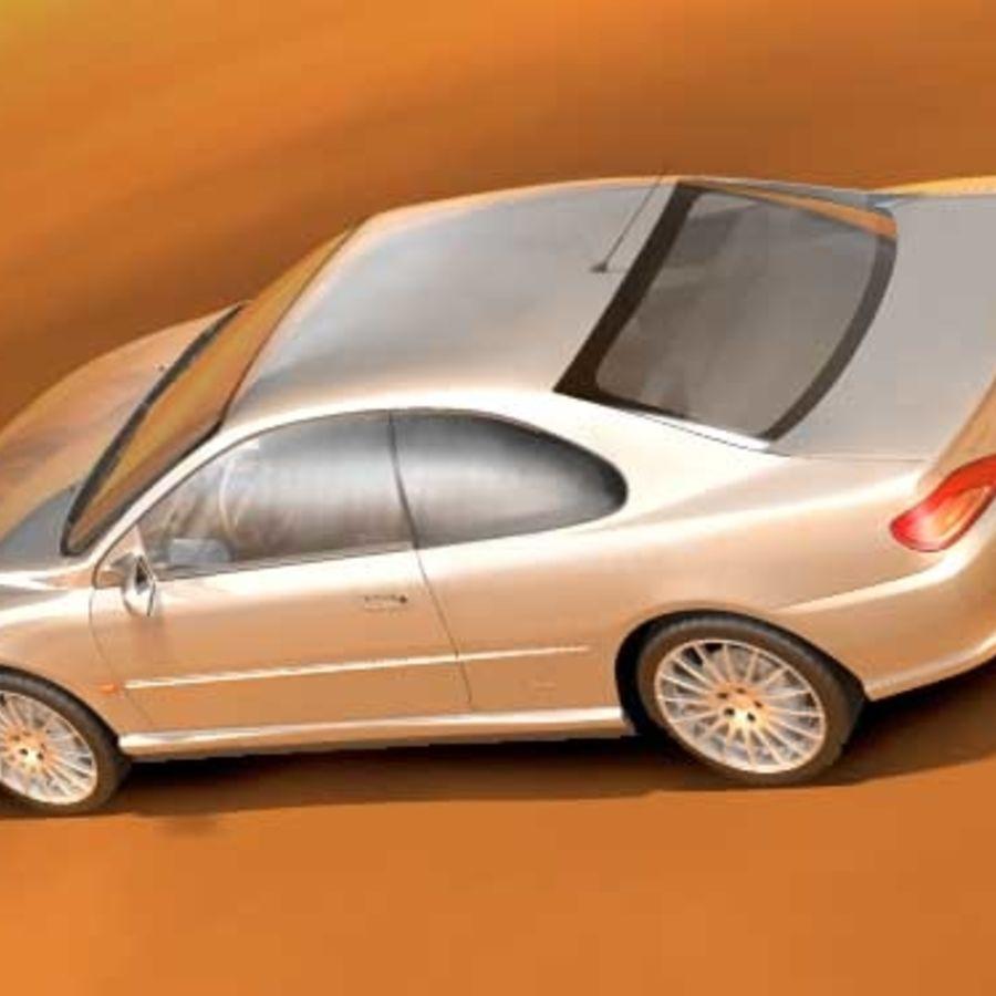 Пежо 406 купе royalty-free 3d model - Preview no. 4