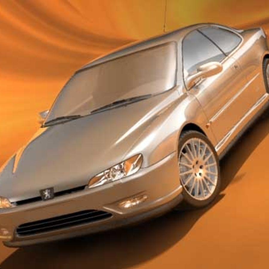 Пежо 406 купе royalty-free 3d model - Preview no. 3