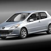 Peugeot 307 3door 3d model