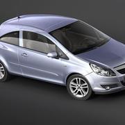 Opel Corsa 3 dörr 3d model