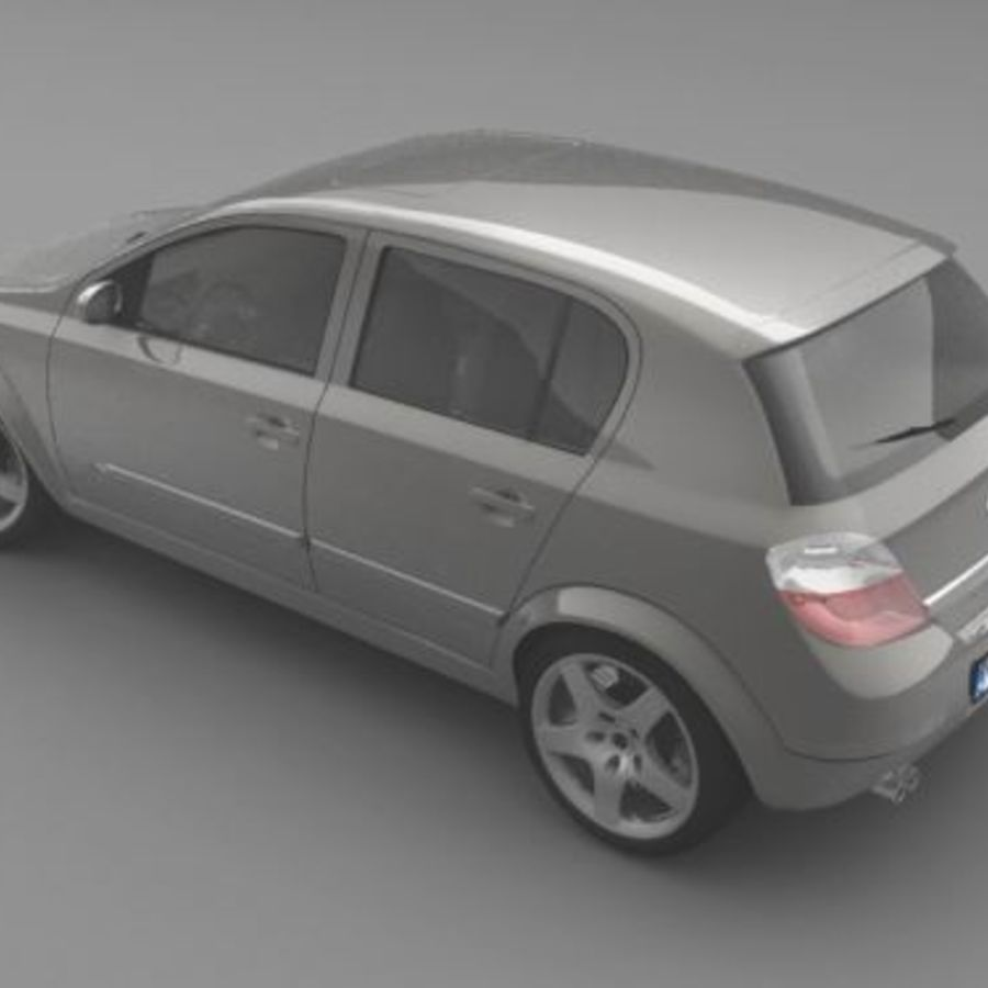 Opel Astra III royalty-free 3d model - Preview no. 2